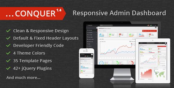 Conquer - Responsive Admin Dashboard Template AdminTemplates