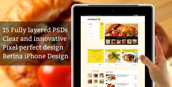 CookBook - Recipe PSD Template (+iPhone Retina) Retail
