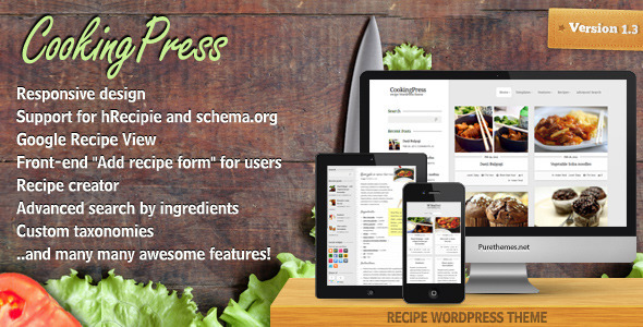CookingPress - Recipe & Food WordPress theme Retail