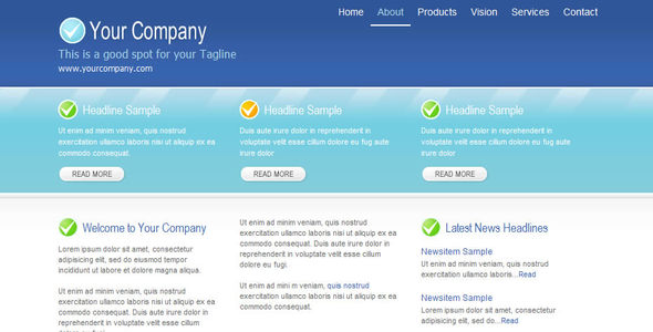 Cool Blu Corporate Web Template