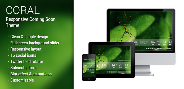 Coral - responsive coming soon page Template Specialty Page