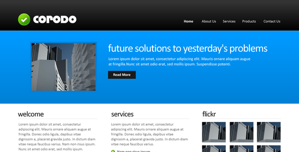 Corodo PSD Template Corporate PSDTemplates