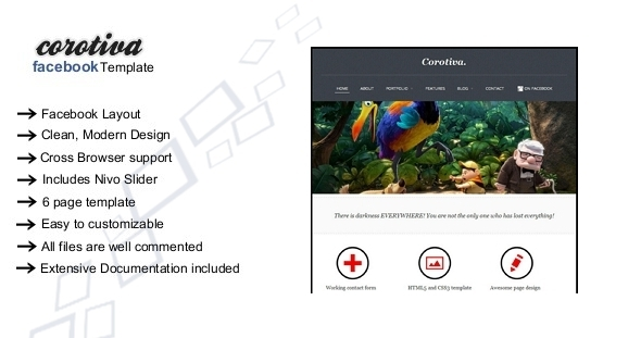 Corotiva - Facebook Business Template Corporate