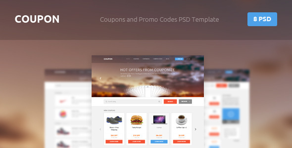 Coupon - Coupons and Promo Codes PSD Template Retail