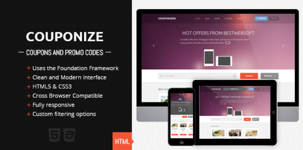 Couponize - Responsive Coupons and Promo Template Miscellaneous