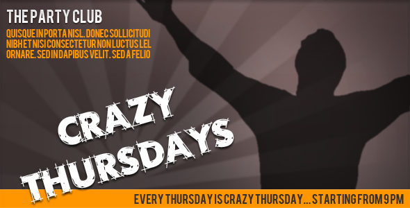 Crazy Thursdays EmailTemplates Email Template