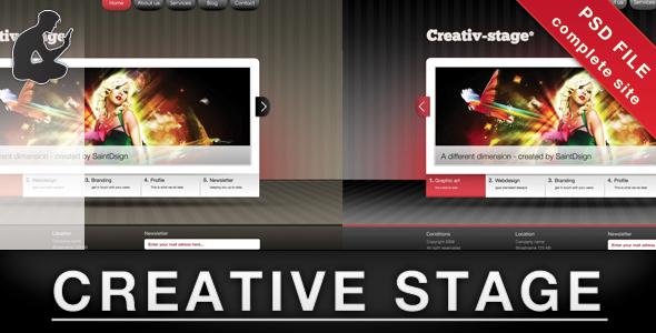 Creative stage - PSD Creative PSDTemplates
