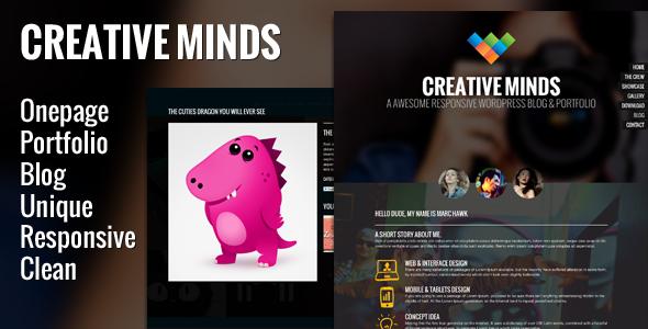 Creative Minds - One Page Portfolio Template PSD Creative