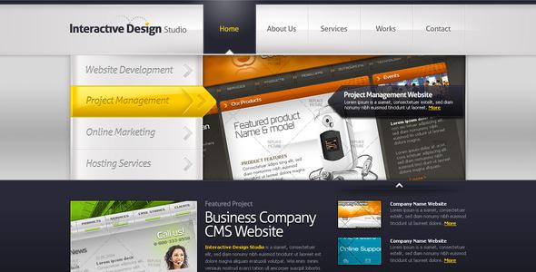 Creative Portfolio Template #05 Creative PSDTemplates