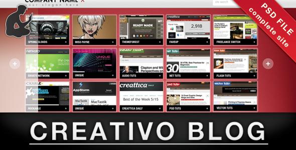 Creativo Blog/Portfolio Creative PSDTemplates
