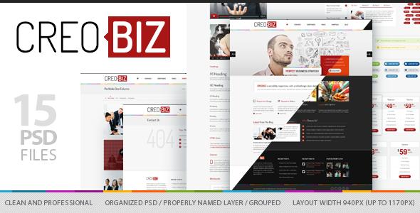 CreoBIZ - Corporate / Creative PSD Template Corporate