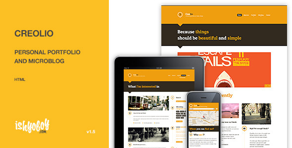 Creolio - Personal portfolio and microblog HTML Template