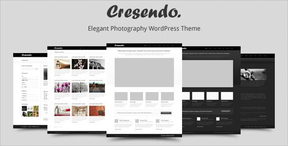 Cresendo - Elegant Photography WordPress Theme Creative