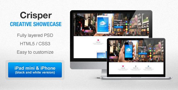 Crisper - Creative Shovecase LandingPages Landing Page