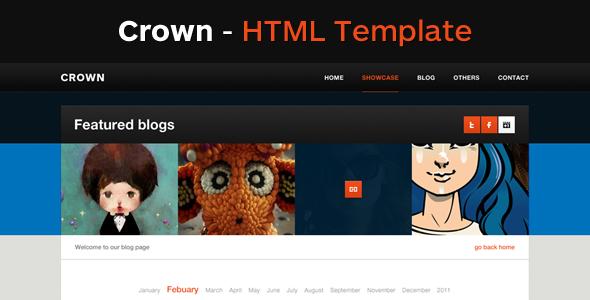 Crown - A Clean HTML Template Creative