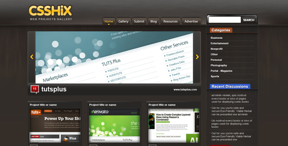 CssHix Css Showcase Gallery Creative PSDTemplates