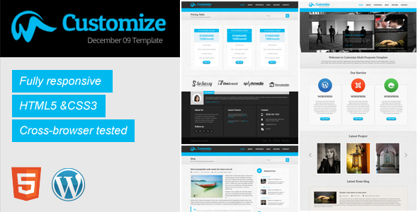 Customize HTML5 responsive template Corporate