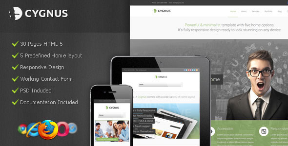 Cygnus - Minimalist Business Template 8 Corporate