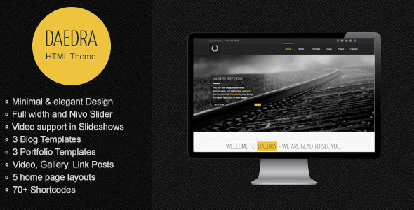 Daedra - Creative Portfolio HTML Template Creative