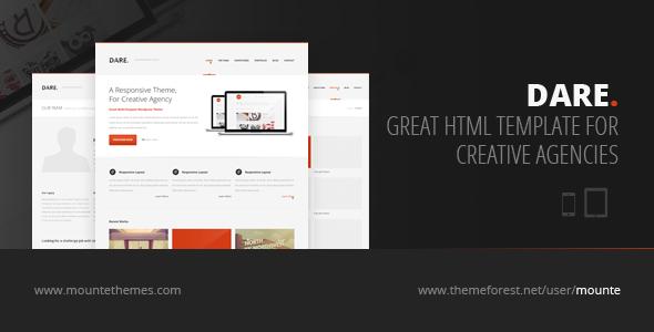 Dare - Responsive HTML Template Creative