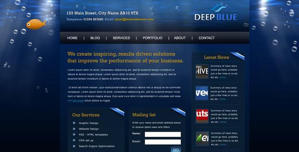 Deep Blue Creative PSDTemplates