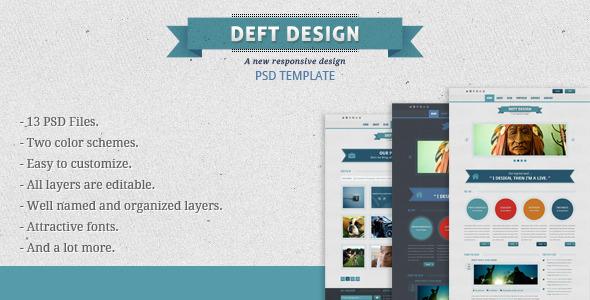 Deft Design - Light And Dark Template PSD Creative