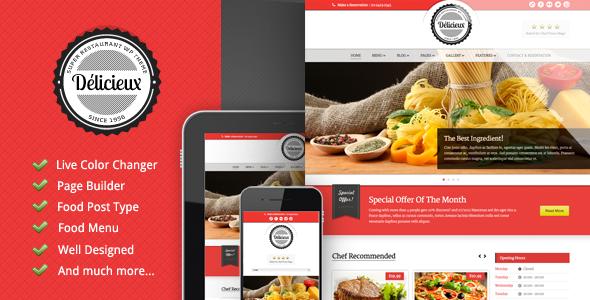 Delicieux - Restaurant Wordpress Theme Retail