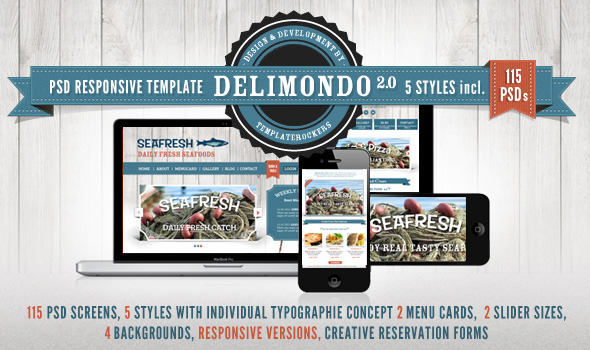 Delimondo Responsive PSD Restaurant Template Entertainment