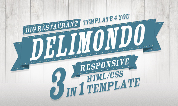 Delimondo Fully Responsive HTML | 3 Styles Template Entertainment
