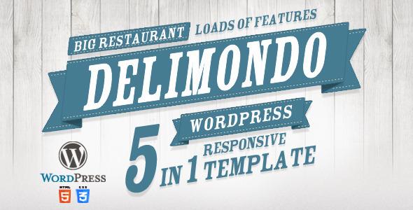 Delimondo Responsive Wordpress Theme | 5 Styles Entertainment