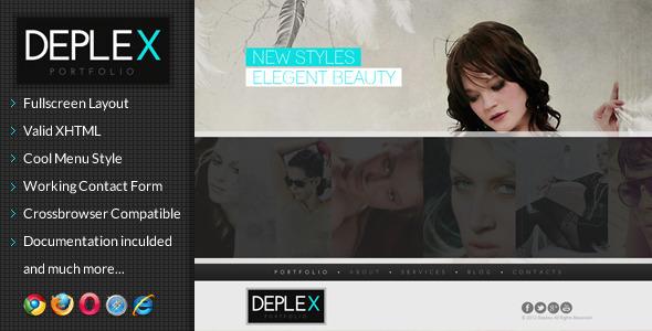 Deplex -  Fullscreen Onepage Portfolio Template Creative
