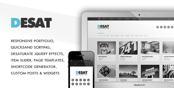 Desat - Responsive Portfolio Theme WordPress Creative