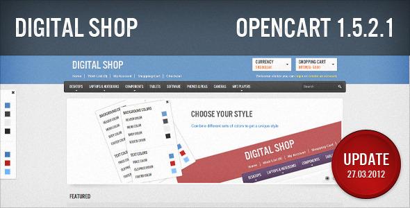 Digital Shop OpenCart Technology