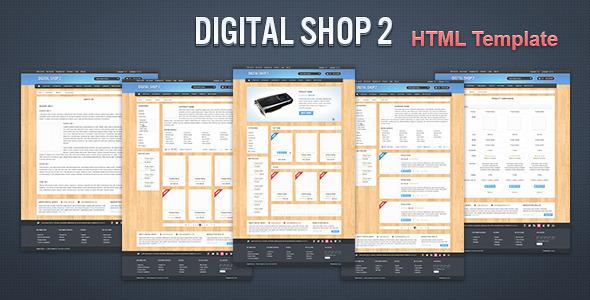 Digital Shop 2 - HTML Template Retail