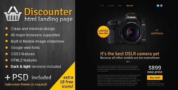 Discounter - Product Promo Landing Page LandingPages Landing Page