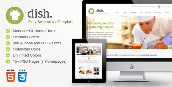 Dish Multipurpose Site Restaurant Template Entertainment