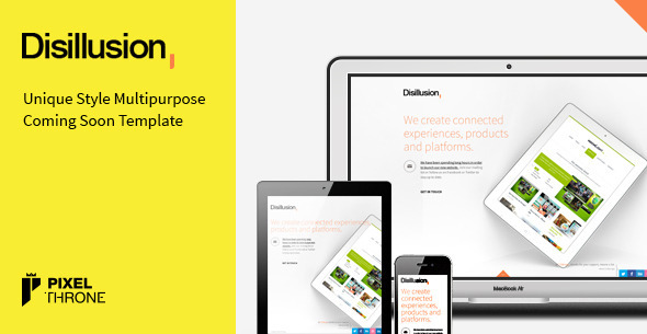 Disillusion > Responsive Coming Soon Page Template Specialty Page
