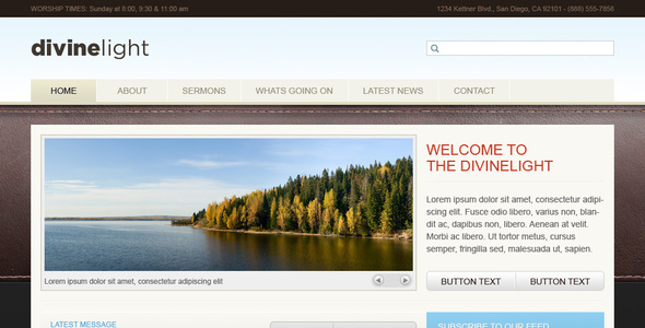 DivineLight - Church Theme Nonprofit PSDTemplates