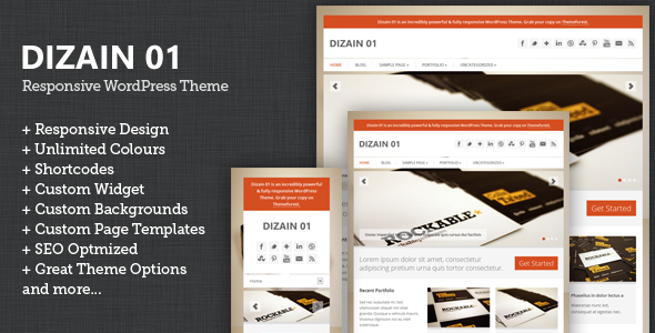 Dizain 01 - Responsive Child Theme for Genesis WordPress