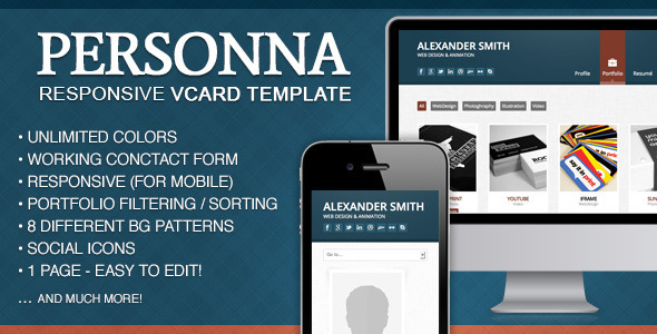 Doctype Personna -  Responsive vCard Template Personal