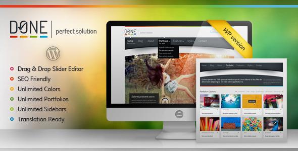 Done - Perfect Solution WordPress Theme Creative