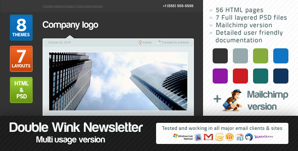 Double Wink Newsletter Multi-usage Version EmailTemplates Email Template