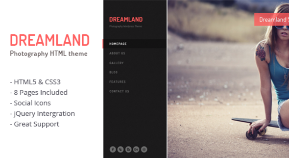 Dreamland - Photography Theme Template Creative