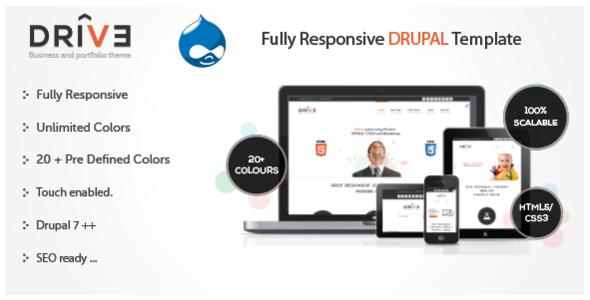 Drive - Responsive Drupal Theme