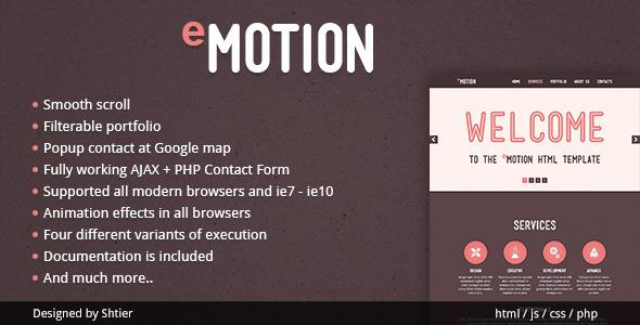 EMotion HTML Template Creative