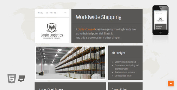Eagle Logistics - Retina-Ready WordPress Theme Corporate