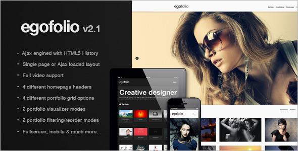 Egofolio: History Ajaxed Reponsive Wordpress Theme Creative