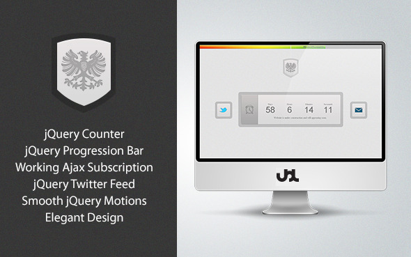 Elegance Under Construction/Coming Soon Theme Template Specialty Page