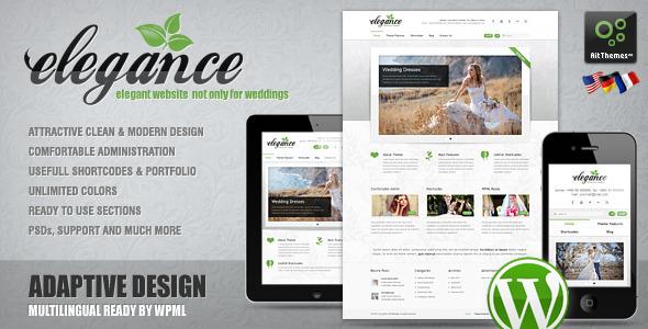 Elegance: Clean and Modern Wordpress Theme Retail