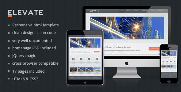 Elevate - Responsive Multipurpose HTML Template Corporate